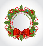 Christmas holiday decoration with greeting card Royalty Free Stock Photo
