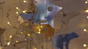 Christmas holiday decoration with lights.  stock video
