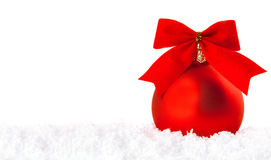 Christmas holiday decoration with white snow Royalty Free Stock Photo
