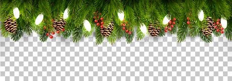Free Christmas Holiday Decoration With Branches Of Tree And Pine Stock Photo - 106215500