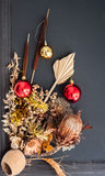Christmas holiday decorative dried flowers Royalty Free Stock Photos
