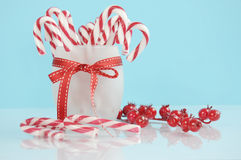 Christmas holiday dessert party candy canes Stock Photo