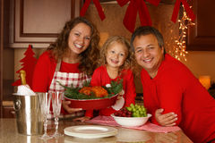 Christmas Holiday Family portrait. Stock Photos