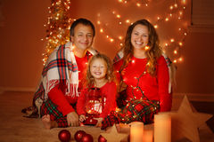 Christmas Holiday Family portrait. Royalty Free Stock Image