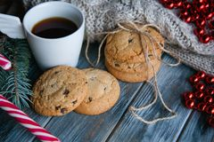 Christmas holiday food snack cookie tea seasonal Stock Images