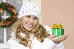 Christmas holiday gift, present Stock Photography