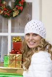Christmas holiday gifts stock photos