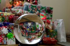 Holiday Christmas gifts crystal ball globe 1 Stock Photo
