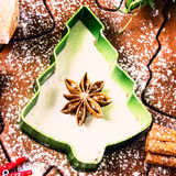 Christmas and holiday Gingerbread baking background dough, Stock Images