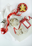 Christmas holiday gingerbread cookies Stock Images