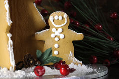 Christmas holiday gingerbread man Royalty Free Stock Photos