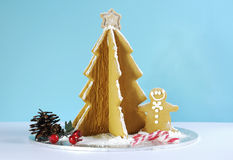 Christmas holiday gingerbread man and tree Stock Photo
