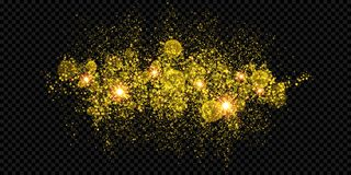 Christmas holiday golden glitter firework background template. Christmas holiday golden glitter firework background template of sparkler gold particles and Royalty Free Stock Photo
