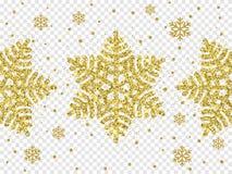 Christmas holiday golden snowflake decoration of gold glitter shine. Christmas holiday golden snowflake decoration of gold glitter shine on white transparent Royalty Free Stock Photos