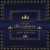 Christmas Holiday Greeting Card Design In luxe Style - Collection royalty free stock image