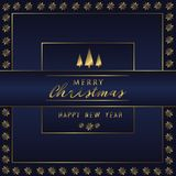 Christmas Holiday Greeting Card Design In luxe Style - Collection Royalty Free Stock Images