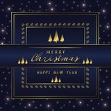 Christmas Holiday Greeting Card Design In luxe Style - Collection Royalty Free Stock Photos