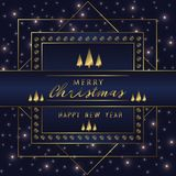 Christmas Holiday Greeting Card Design In luxe Style - Collection Royalty Free Stock Photo