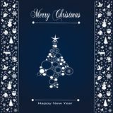 Christmas Holiday Greeting Card Design In luxe Style - Collection vector illustration