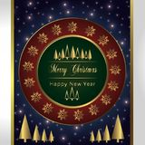 Christmas Holiday Greeting Card Design In luxe Style -  Royalty Free Stock Images