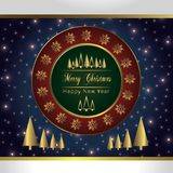 Christmas Holiday Greeting Card Design In luxe Style -  Royalty Free Stock Image