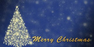 Christmas holiday greeting card template with stars Stock Photos