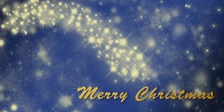 Christmas holiday greeting card template with stars Royalty Free Stock Image