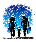 Christmas holiday, happy family Stock Images