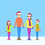 Christmas holiday happy family new year Royalty Free Stock Photography