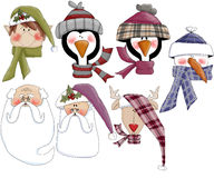 Christmas Holiday Heads Royalty Free Stock Images