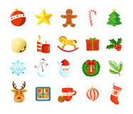 Christmas holiday icon set Royalty Free Stock Image