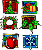 Christmas Holiday Icons and Logos Vector Stock Photography