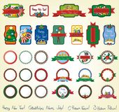Christmas holiday icons and symbols Royalty Free Stock Photography