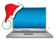 Christmas holiday laptop sale Royalty Free Stock Photos