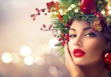 Christmas holiday makeup Royalty Free Stock Image