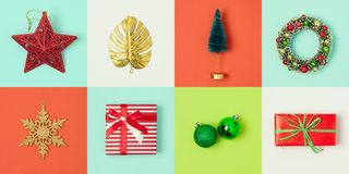 Christmas holiday minimal concept Stock Photos