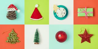 Christmas holiday minimal concept Royalty Free Stock Images