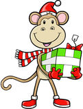 Christmas Holiday Monkey Royalty Free Stock Photo