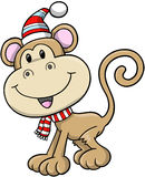 Christmas Holiday Monkey Vector Stock Photo