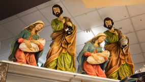 Christmas Holiday Nativity Decorations Stock Image