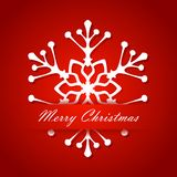 Christmas. Holiday New Year card white snowflakes Royalty Free Stock Photography