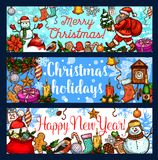 Christmas holiday and New Year celebration banner Stock Image