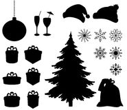 Christmas holiday objects Stock Image
