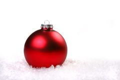 Christmas Holiday Ornament in Snow Stock Photos