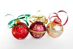 Christmas holiday ornaments. Festive christmas holiday xmas ornaments royalty free stock photo