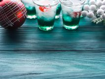 Christmas holiday party background with drinks Stock Photos