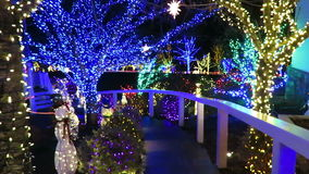 Christmas Holiday Pathway stock video footage
