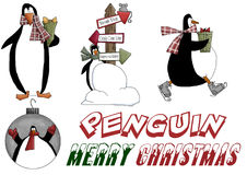 Christmas Holiday Penguins Stock Image