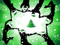 Christmas holiday, people fun Stock Images