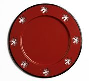 Christmas Holiday Plate. Christmas holiday decoration of a snowflake plate Stock Photo